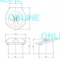 TOTO小便器 トラップ部目皿(US860タイプ用、陶器製)【U720CST】
