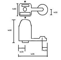 画像1: 後付け 自動水栓 RS-2001C【激安】 オートスパウト Auto-Spout シルバー【ミヤコ産業】