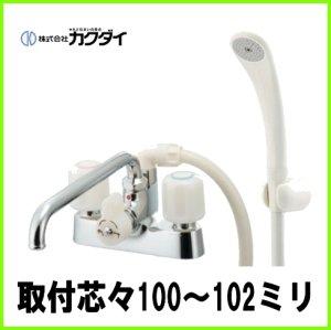 画像1: 152-101     2ハンドルシャワー混合栓 -カクダイ (1)