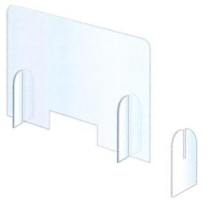 画像1: 飛沫感染予防 デスクパーテーション 4台組 厚み3mm W900×H700 日大工業 (1)