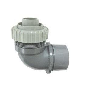 画像1: Z14PVHL-EH     L型排水ホース用アダプタ Φ30ホース×VP・VU50 【ミヤコ】 (1)